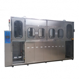 FLT-5 Automatic three groove ultrasonic cleaning machine line